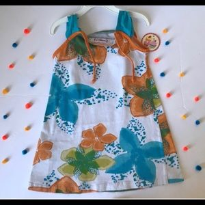 Other - Girls Sleeves Shift Dress with Flowers size 5